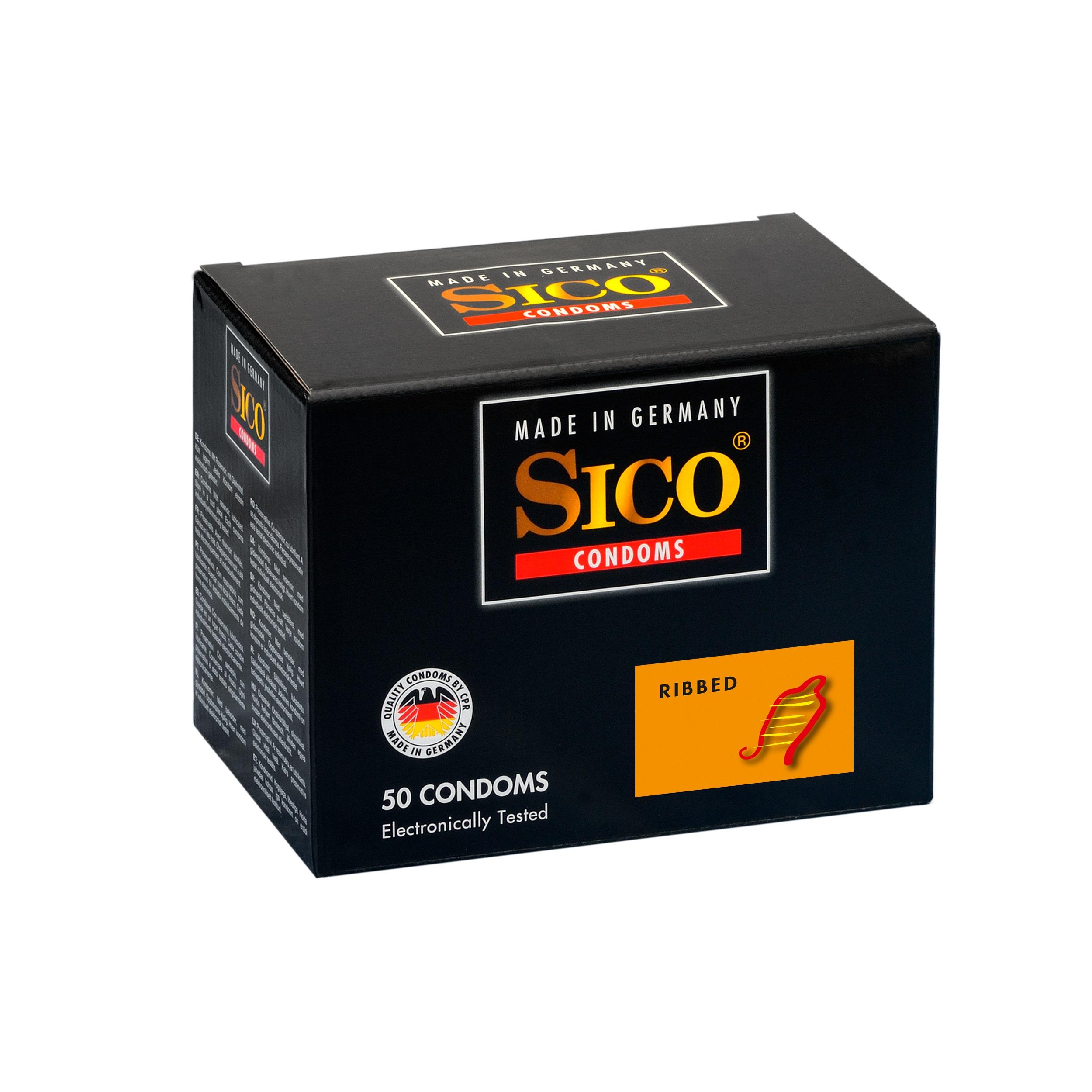 Frei Haus: 50 SICO Kondome verschiedene Sorten Condome 50 SICO Ribbed Kondome